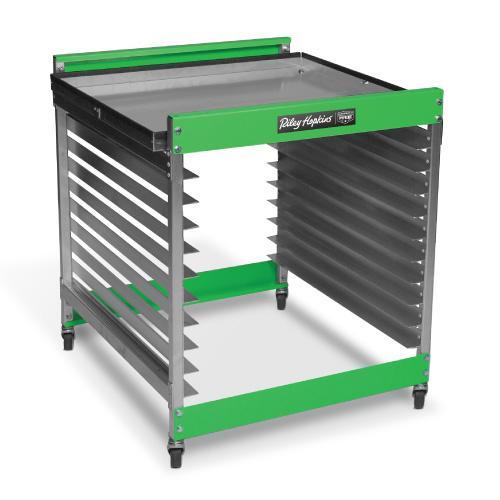Riley Hopkins¨ Half Stack Screen Rack Cart - 10 Screen Count