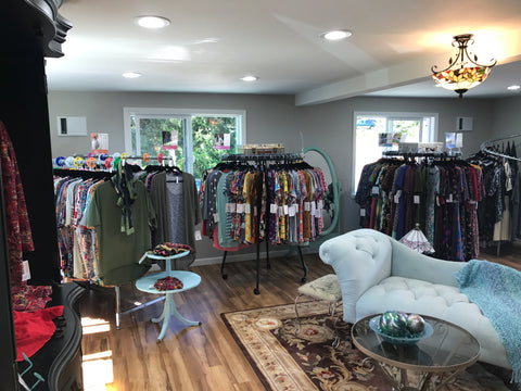 A glimpse inside the Bella Bay Women's Fashion Boutique. Carrying sizes X-small through 3XL. Come by and say Hi and check out the latest Paisley Raye Primrose Wrap Dress by Paisley Raye with Bella Bay Boutique, shop now at  https://shopbellabay.com/