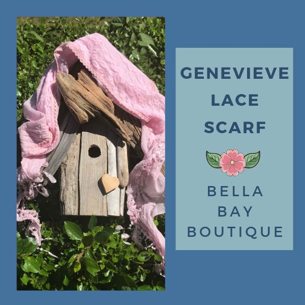 Paisley Raye Genevieve Lace Scarf - Paisley Raye with Bella Bay Boutique, shop now at  https://shopbellabay.com/ or locally in Newport Oregon