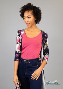 Paisley Raye Layering Tank Top- Raspberry (XS) - Paisley Raye with Bella Bay Boutique, shop now at  https://shopbellabay.com/ or locally in Newport Oregon