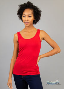 Paisley Raye Layering Tank Top- Red (XS) - Paisley Raye with Bella Bay Boutique, shop now at  https://shopbellabay.com/ or locally in Newport Oregon