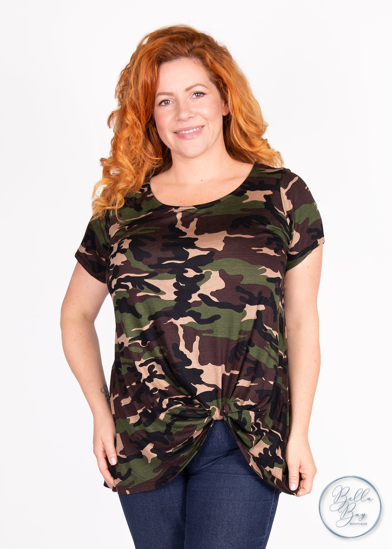 Paisley Raye Nerine Tee - Camo (0X) - Paisley Raye with Bella Bay Boutique, shop now at  https://shopbellabay.com/ or locally in Newport Oregon