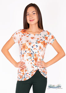 Paisley Raye Nerine Tee- Cream Floral (2X) - Paisley Raye with Bella Bay Boutique, shop now at  https://shopbellabay.com/ or locally in Newport Oregon