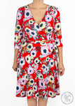 Paisley Raye Petunia Wrap Dress- Large Red Poppy Floral (OX) - Paisley Raye with Bella Bay Boutique, shop now at  https://shopbellabay.com/ or locally in Newport Oregon