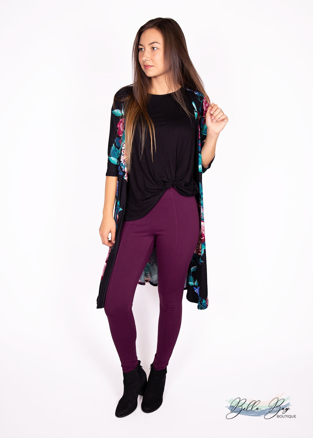 Paisley Raye Pixie Pant- Wine (2X) - Paisley Raye with Bella Bay Boutique, shop now at  https://shopbellabay.com/ or locally in Newport Oregon