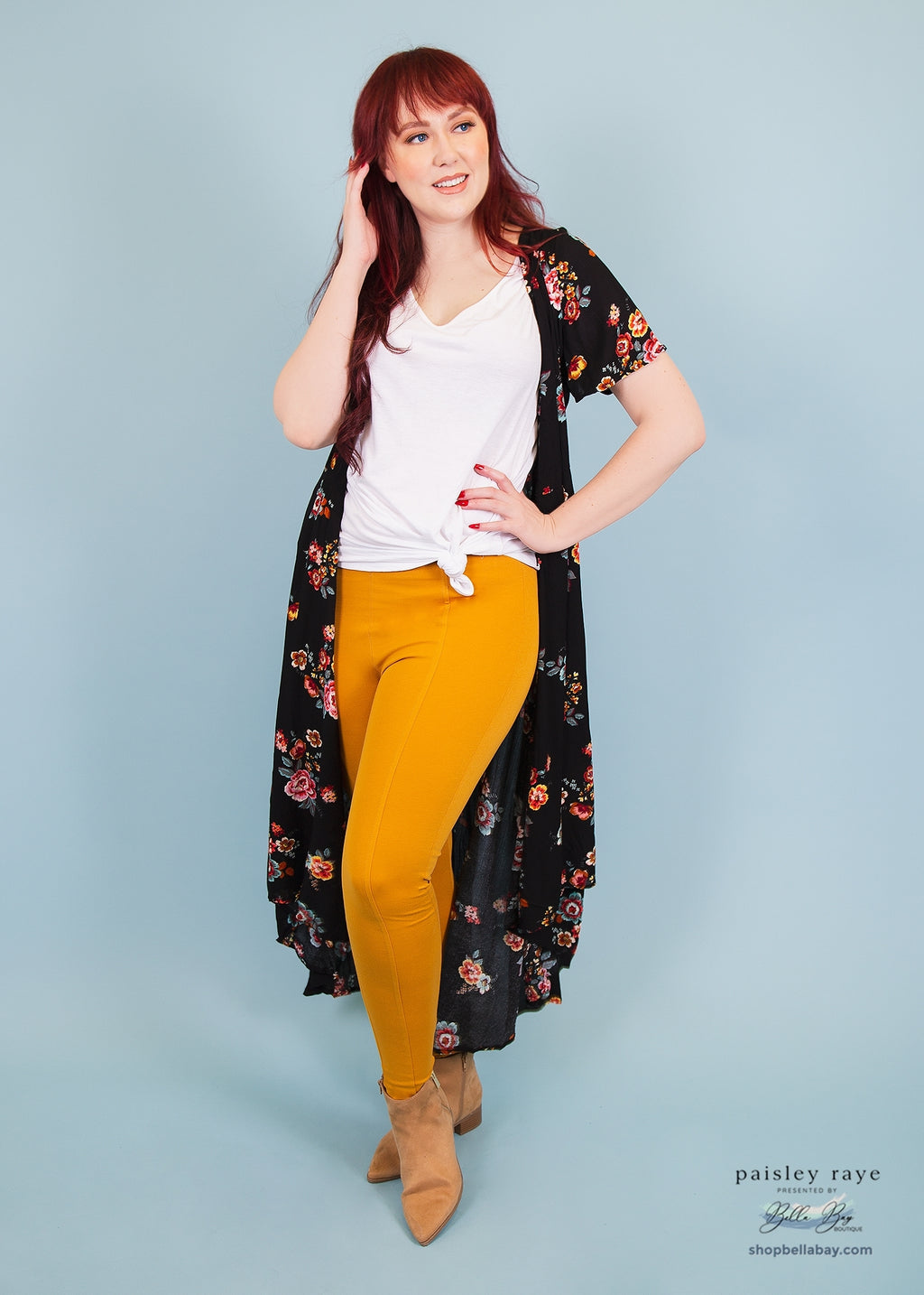 Paisley Raye Pixie Pant- Mustard (0X) - Paisley Raye with Bella Bay Boutique, shop now at  https://shopbellabay.com/ or locally in Newport Oregon