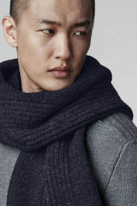 Mens Textured Knit Scarf