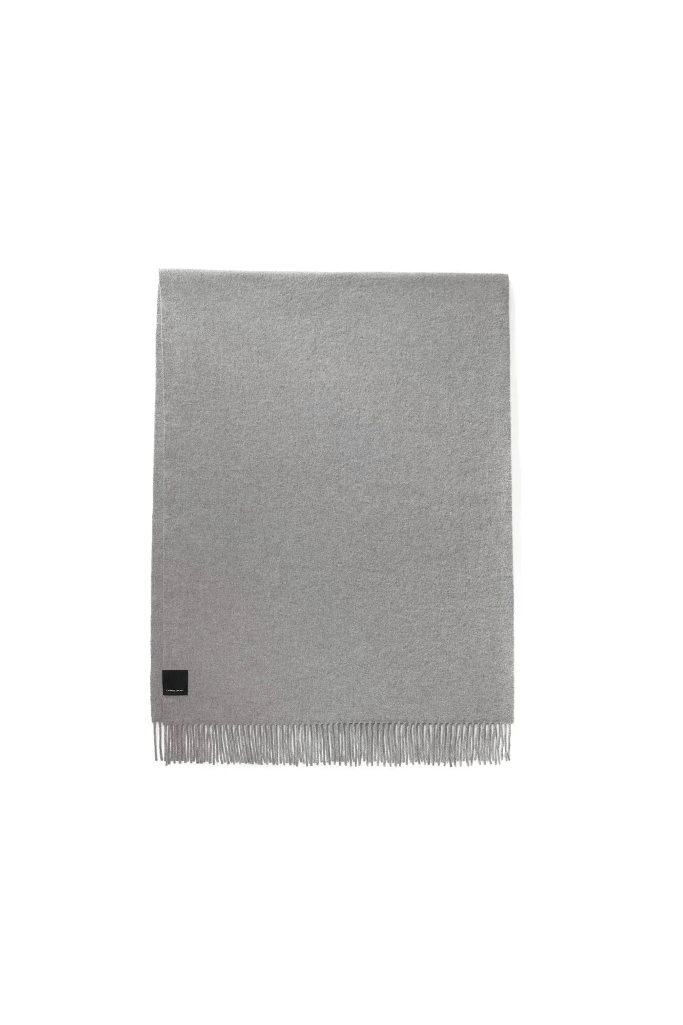 Ladies Solid Woven Scarf - Heather Grey