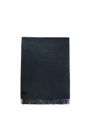 SOLID WOVEN SCARF - Navy
