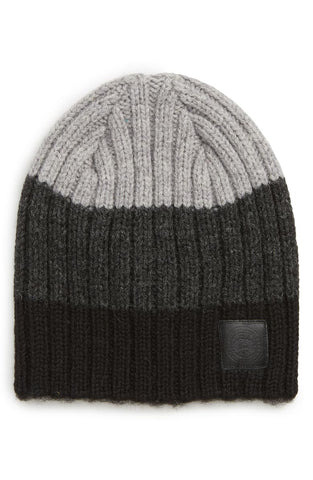 BLOCK RIB SLOUCH HAT - Black