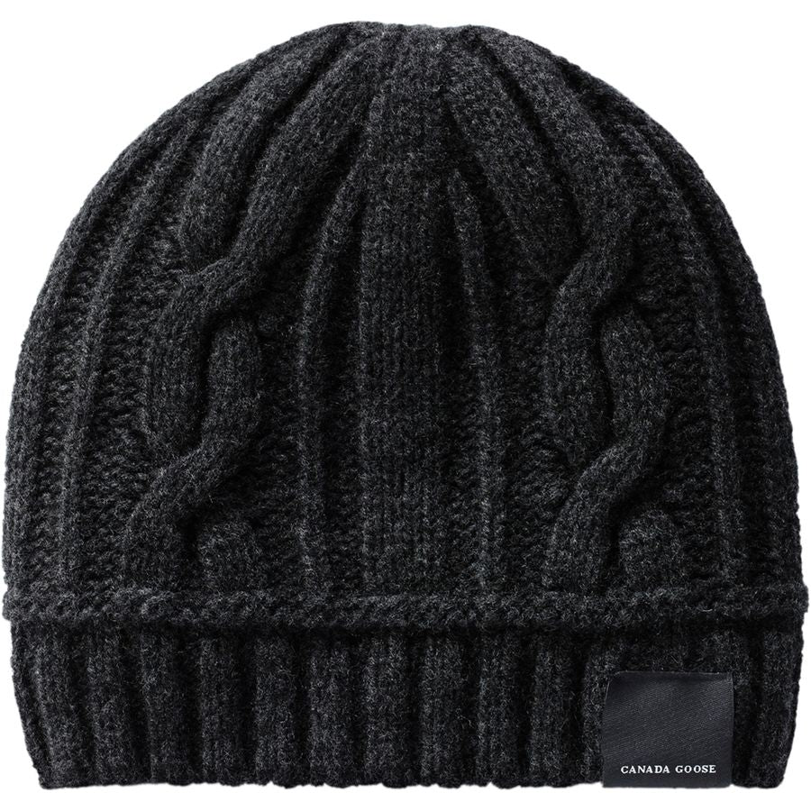 Tuque Torsadée- Ladies Cable Toque / Noir-  Black