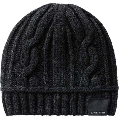 LADIES CABLE TOQUE -  Black