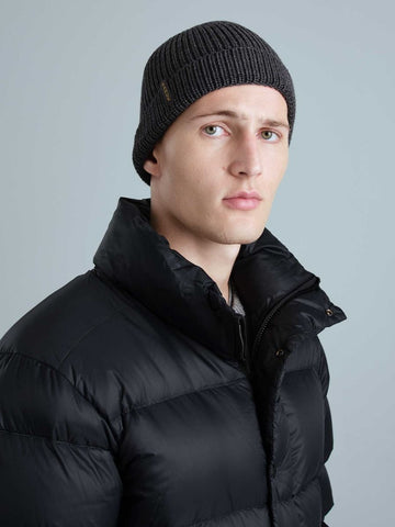 WOOL unisex tuque/beanie- Graphite