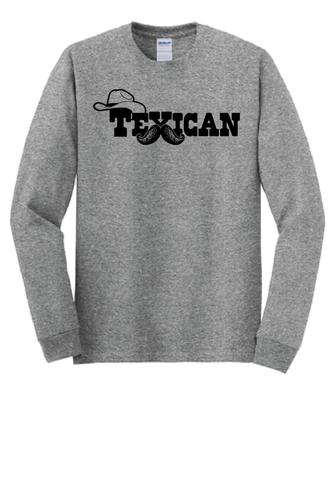 Texican  Bushy Stache : Long Sleeve