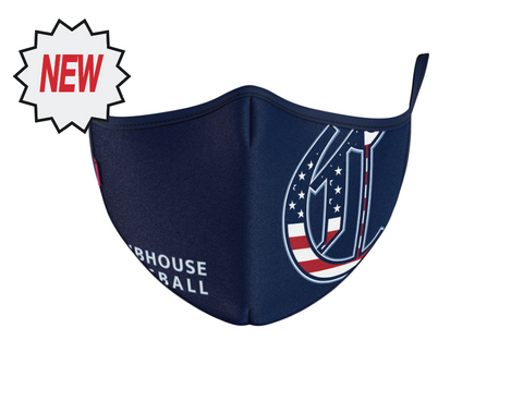 "The Clubhouse - The C Triple Layer Sport Face Mask - Flag fill ""C"""