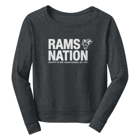 W's Crop Shoulder Sweatshirt Rams Nation