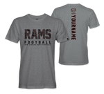 Rams Football - Custom Performance T-Shirt