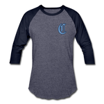 SPOD - The Clubhouse - M's Baseball T-Shirt - heather blue/navy