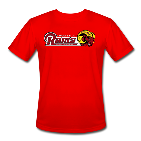 Men's Moisture Wicking Performance T-Shirt - red