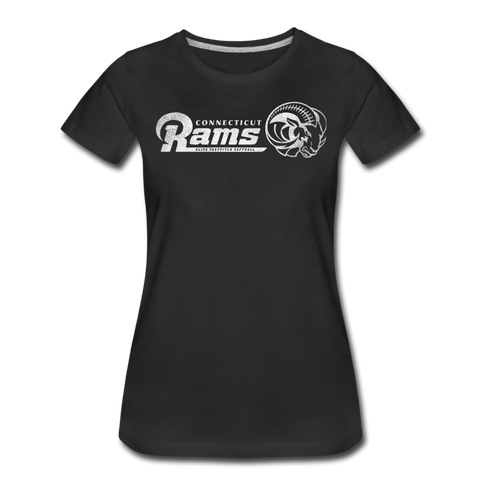 CT Rams - Women's Vintage T's - black
