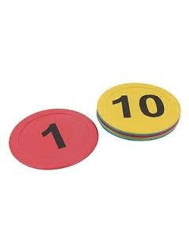 Flat Marker Cones Numbered (Pack of 12)