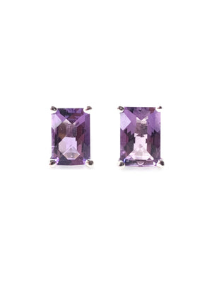 OM. OM.Theplacement. OM THE PLACEMENT. Healing Amethyst 925 Sterling Silver Rhodium Plated Purple Earring.  We all as a whole, love everything love everyone means to love yourself.
