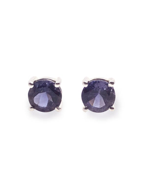 Healing Iolite 925 Sterling Silver Purple Earring.