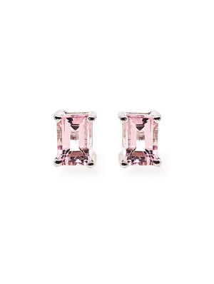 OM. OM.Theplacement. OM THE PLACEMENT. Hope Pink Topaz 925 Sterling Silver Rhodium Plated Earring.  We all as a whole, love everything love everyone means to love yourself.