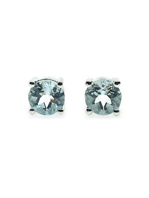 OM.Theplacement 1.46 Carat Aquamarine 925 Sterling Silver Rhodium Plated Earring