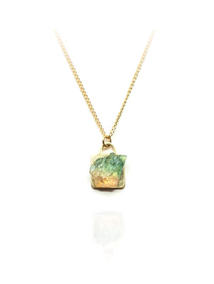 14K Gold Filled Tourmaline Pendant Necklace