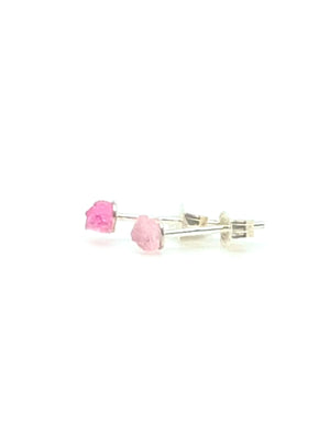 Pink Tourmaline Sterling Silver Earring