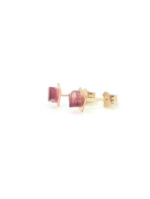 Red Tourmaline Earring