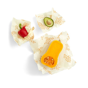 Reusable Food Wrap - Assorted set of 3 sizes (S, M, L)