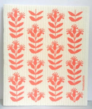 Swedish Dishcloth (Coral Buds)