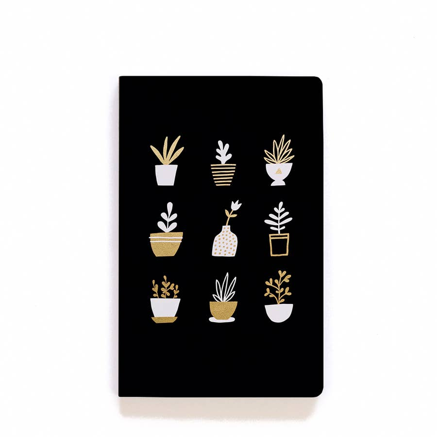 Lay Flat Notebook (GOLD PLANTS)