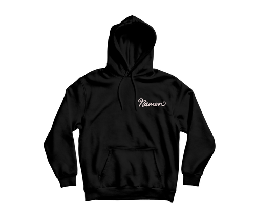 'Nämen' Embroidered Hoodie (Various Colours)