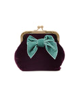 Sonja Love Velour Clutch - Bordeaux