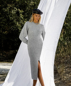 Verbier Slit Dress Grey