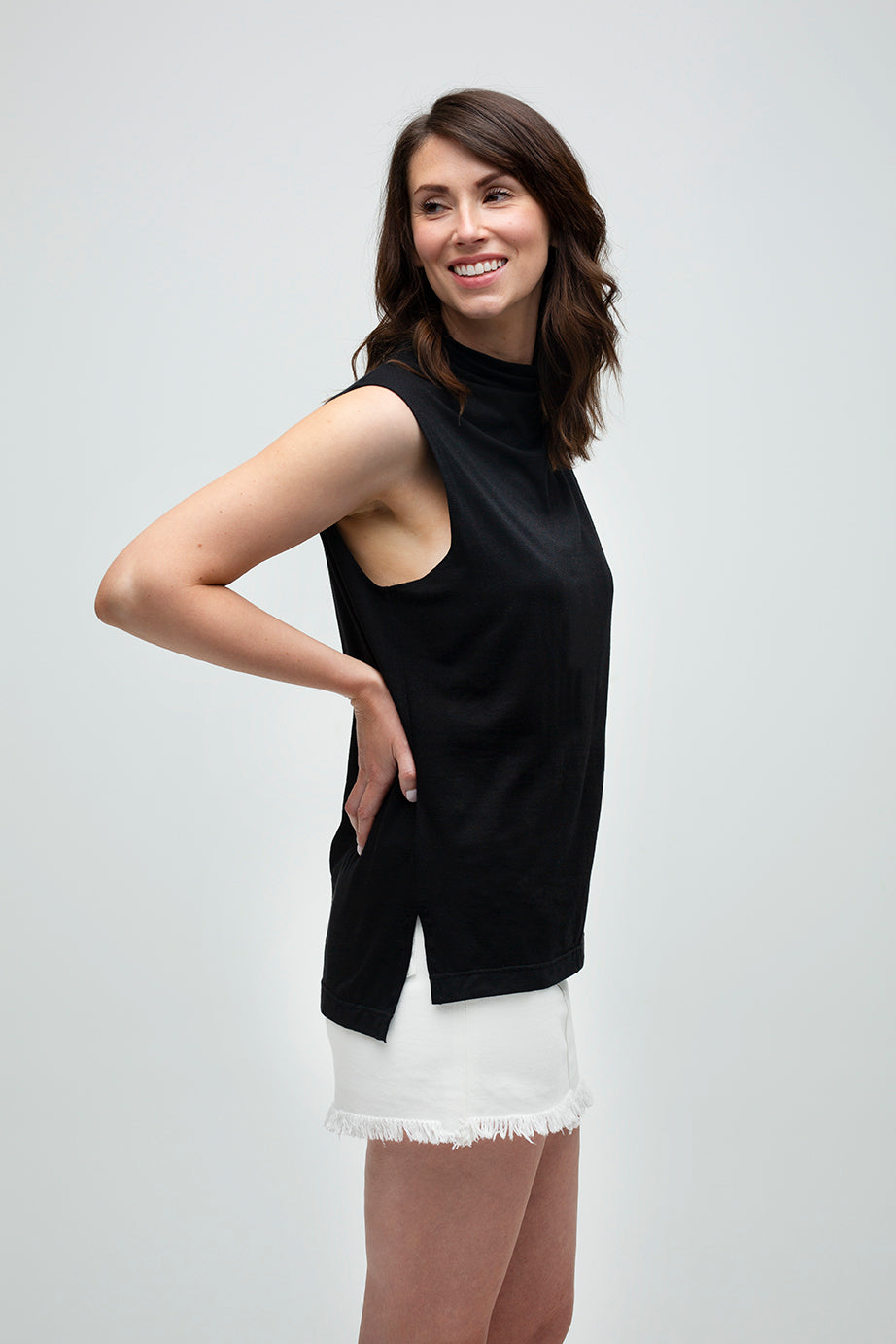 Effortless Sleeveless Top in Black