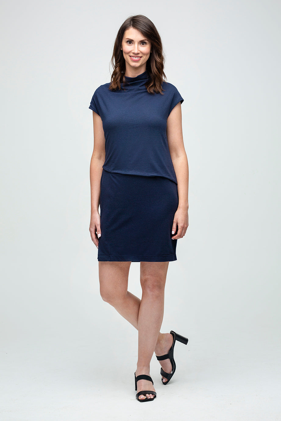 Everywhere Sleeveless Dress in Navy