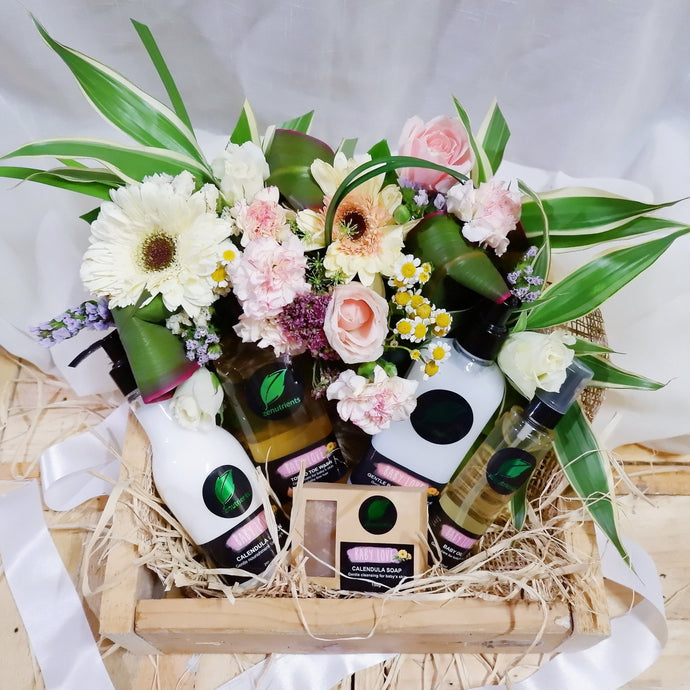 Baby Love in Floral Gift Box