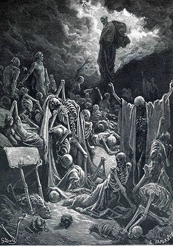 The Vision of The Valley of Dry Bones (Dore)