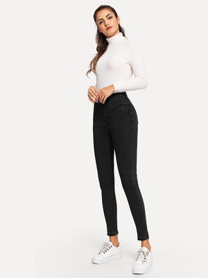 Plain Skinny Jeans-Negative Apparel (1985460502598)