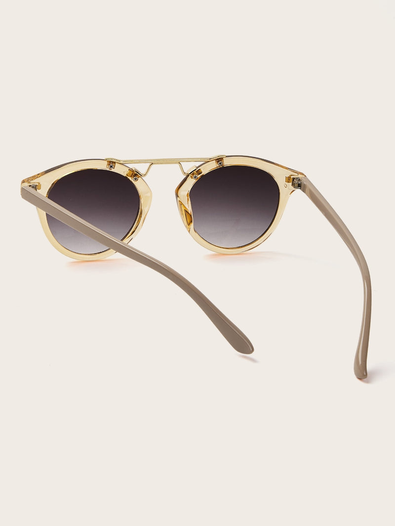 Transparent Frame Tinted Lens Sunglasses-Negative Apparel