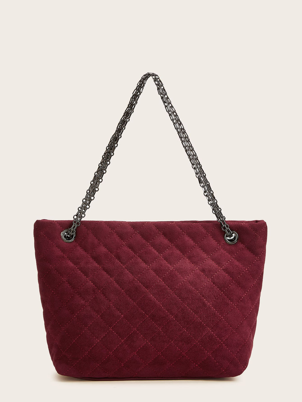 Twist Lock Quilted Chain Tote Bag (4384854409281)