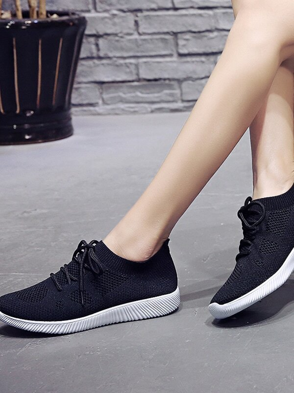 Almond Toe Lace Up Trainers