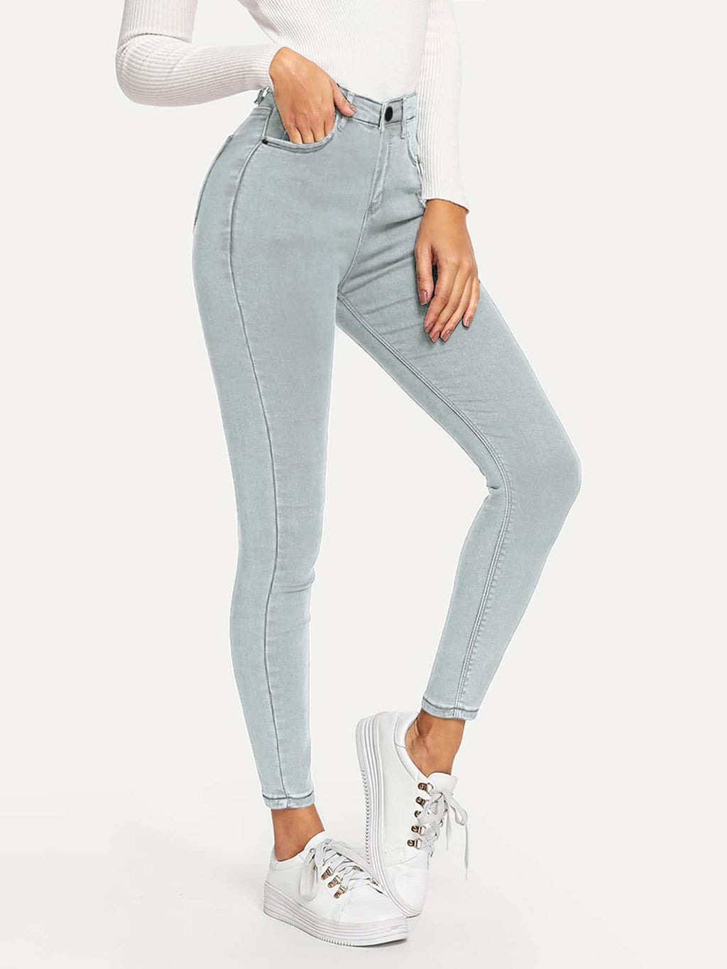 High-Rise Ankle-Cut Skinny Jeans FD