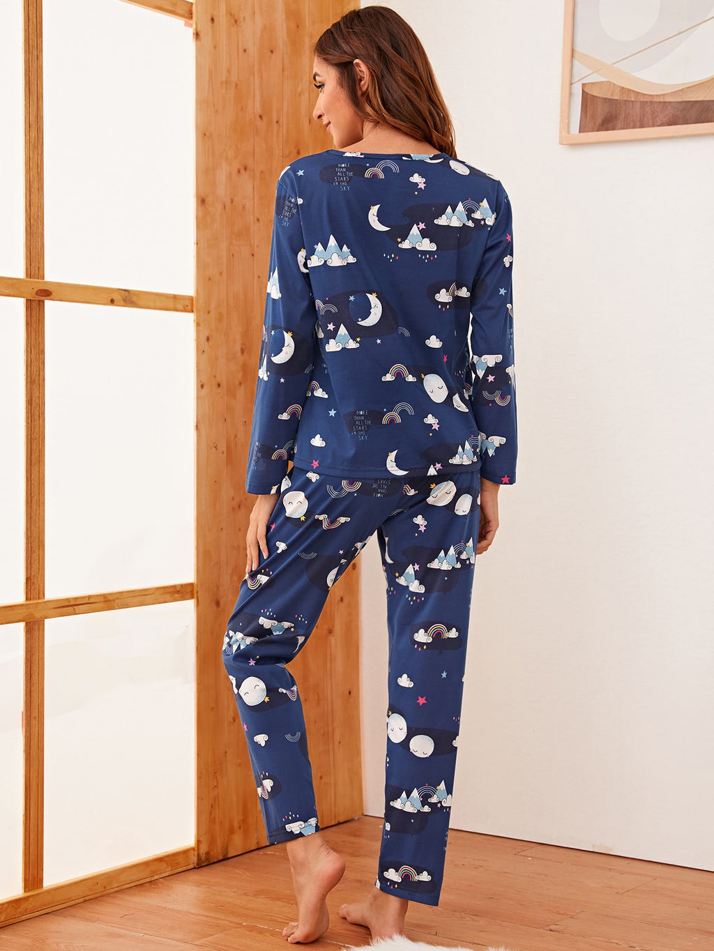 Cartoon Graphic PJ Set FD