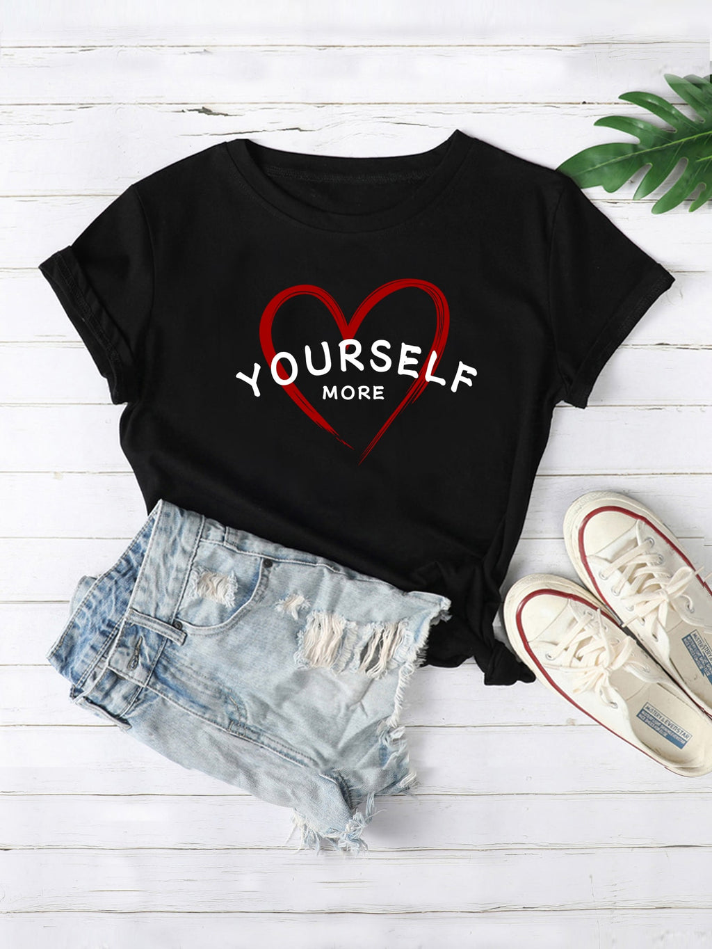 Heart & Letter Graphic Tee (4384805224513)