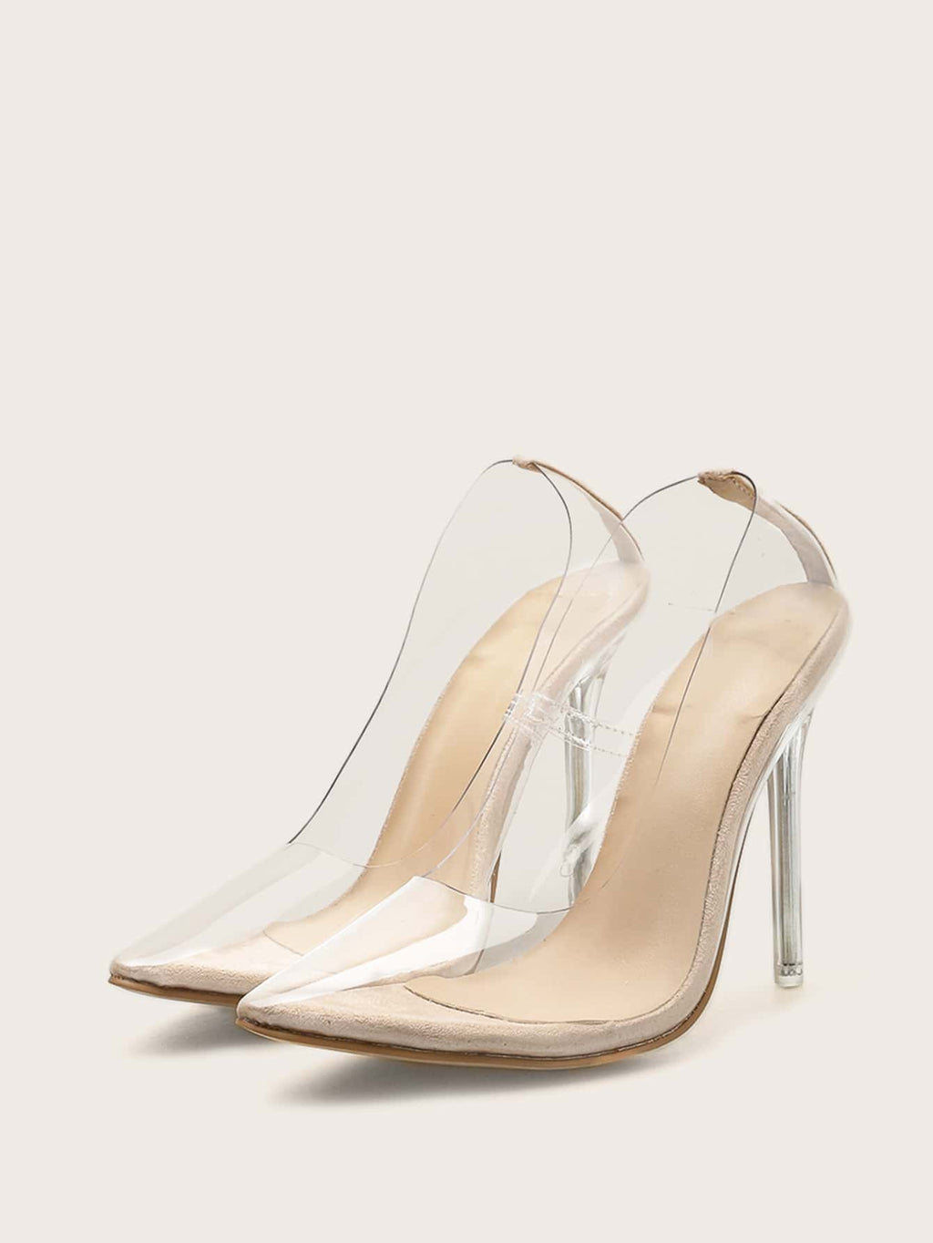 Clear Point Toe Court Heels